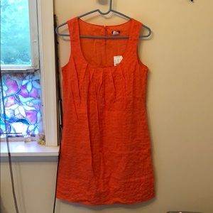 NWT J crew Orange Deco Dot Zoe Dress Size 2